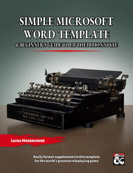 Simple 5E Microsoft Word Template & Beginner's Guide